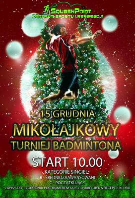 Miniatura wydarzenia - Mikołajkowy Turniej Badmintona