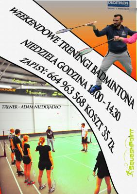 Miniatura wydarzenia - Weekendowe Treningi Badmintona